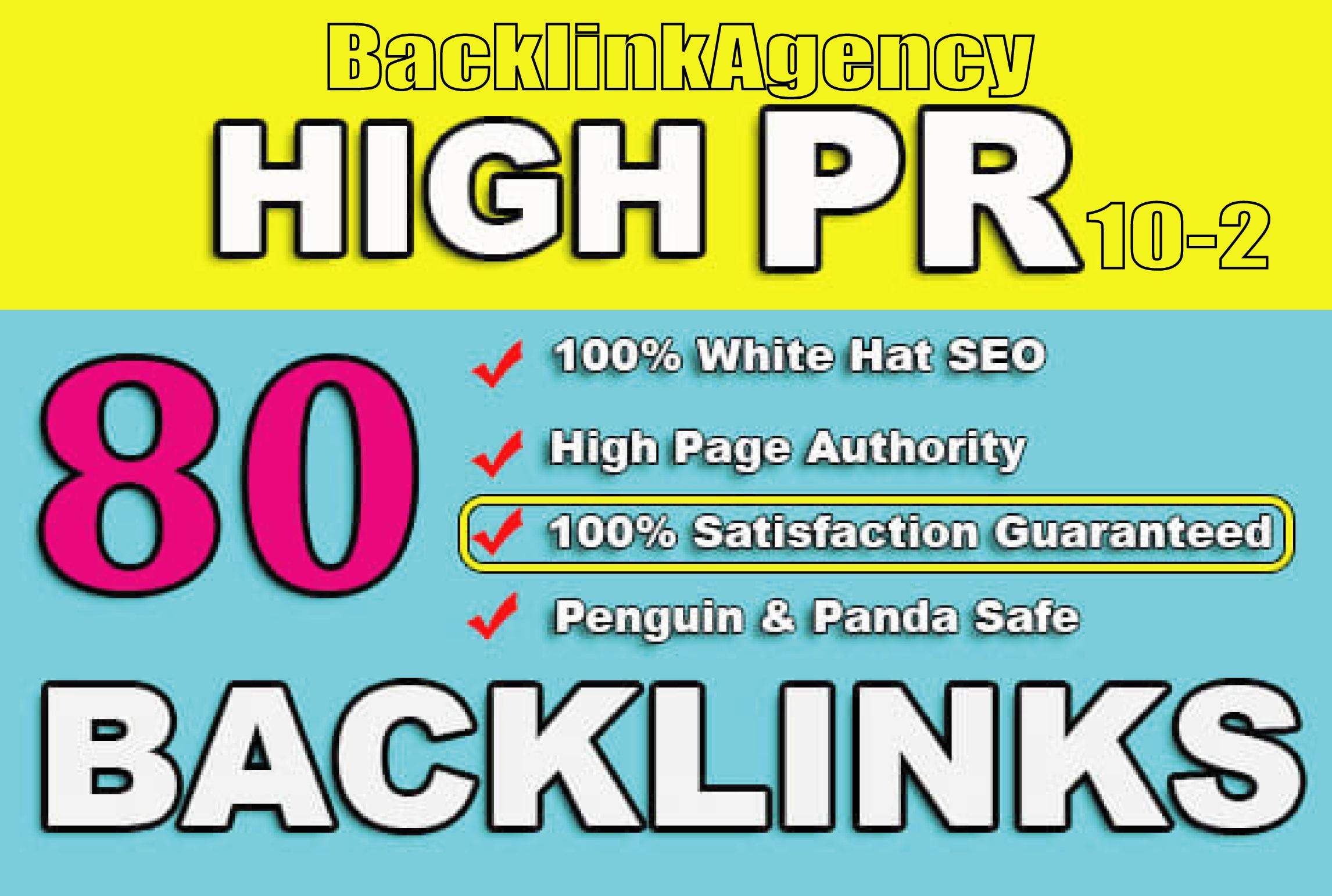 build 80 high authority usa SEO dofollow backlinks