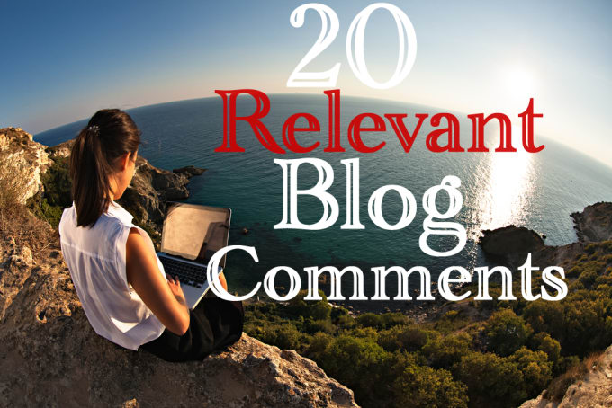 do 20 relevant blog post for your blog