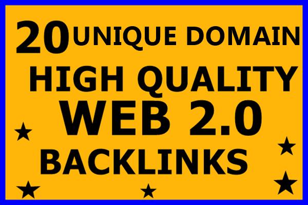 20 High Quality Web2.0 Blogs high DA 30+