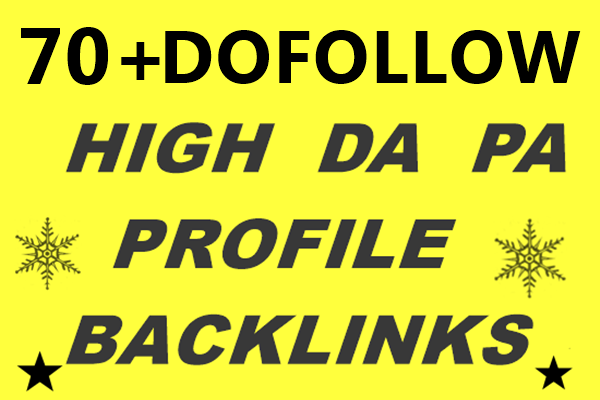 Create DA70+ PR9 high authority Profile backlinks for google ranking