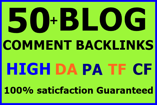 50+ niche related blog comments backlinks high DA PA-Top service