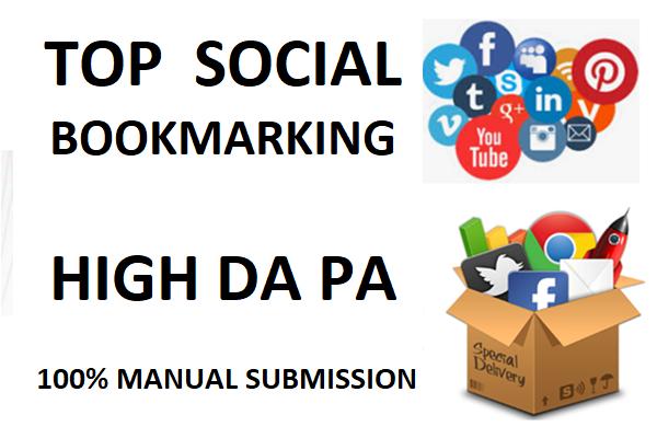 Build Seo Backlinks 35+ SOCIAL Bookmaking Unique Domain High DA PA