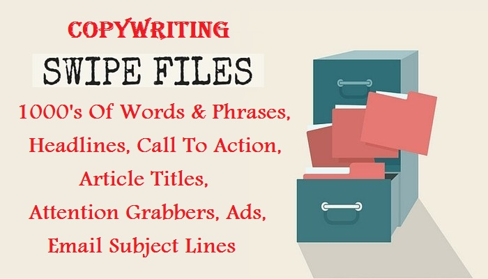 give copywriting swipe files package 1000s of words,  headlines,  titles,  more
