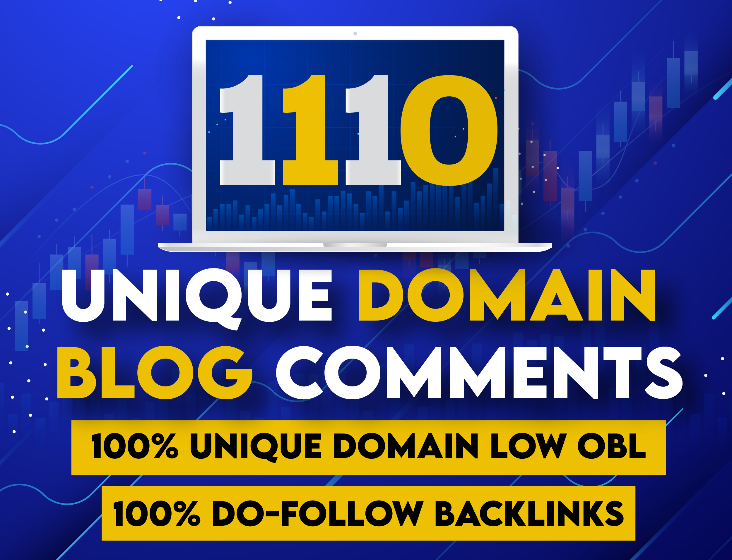 i will create 1110 unique domain dofollow blog comments backlinks with low obl high DA PA TF CF site