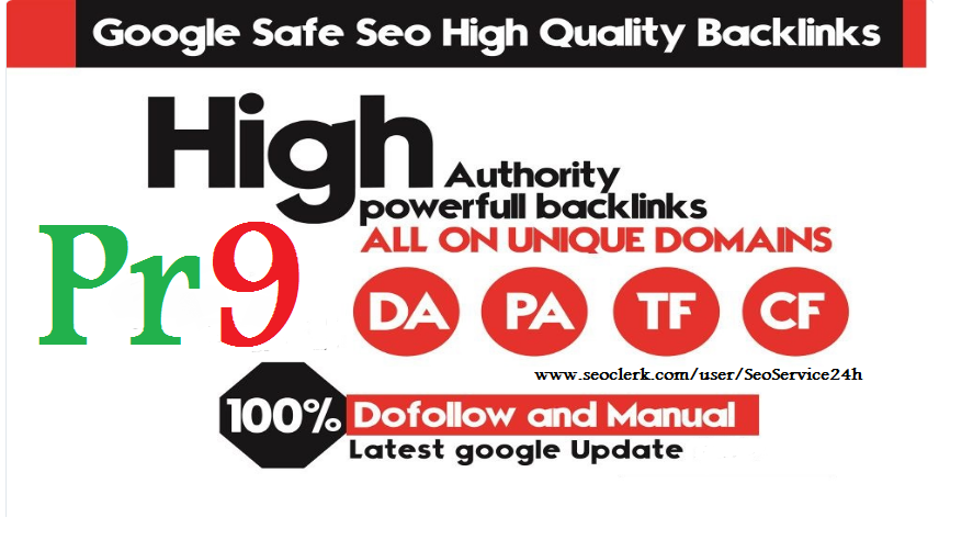 Provide You 50 USA & UK PR9 SEO High Authority Manual Backlinks
