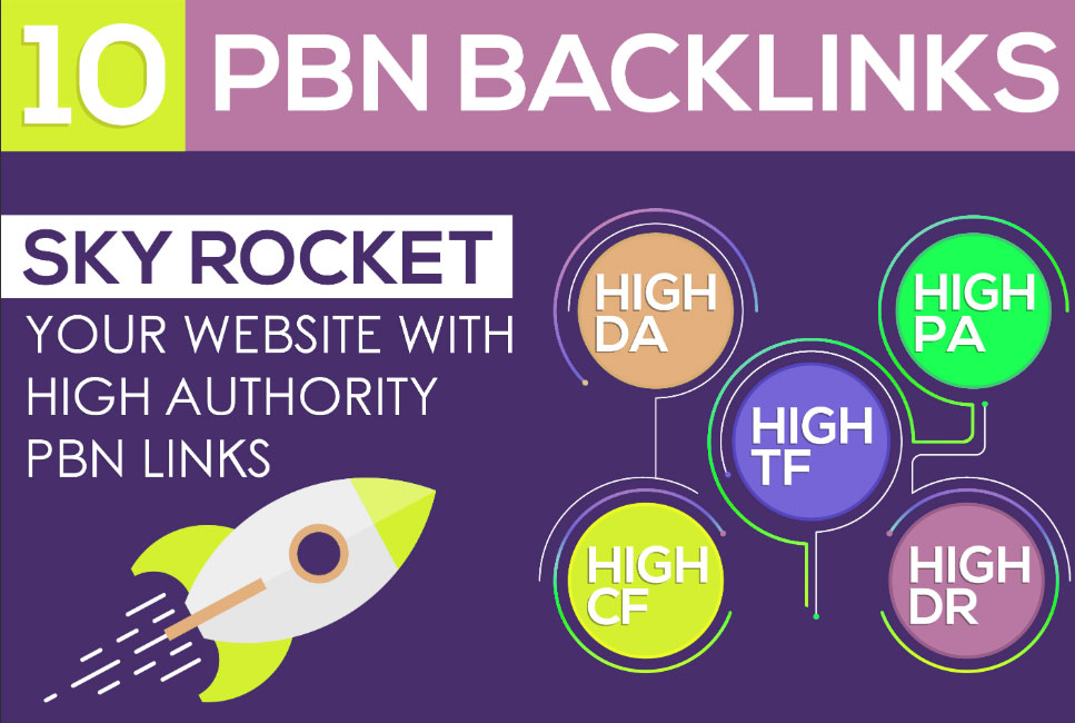 Create 10 HomePage PBN Backlinks All Dofollow High Quality Backlinks