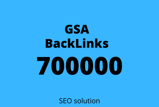 I will create GSA 700000 Verified SEO backlinks for you website rank on google