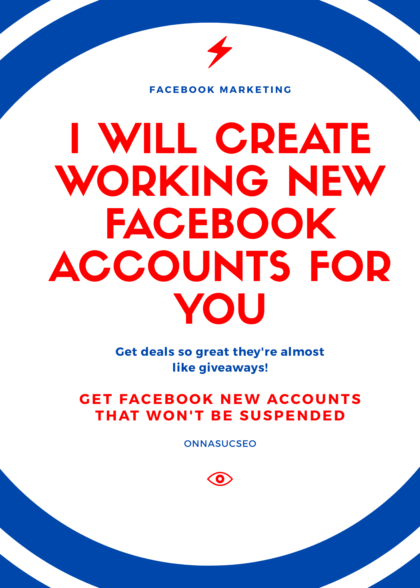 I will create new Social media pages that cannot be suspended
