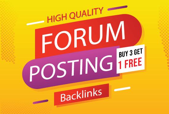 Provide 20 HQ Forum Posting SEO Backlinks on high DA PA