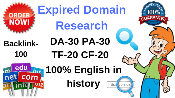 5 High quality expired domain Research for your Speci...