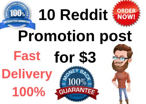 10 Reddit promotion post for targeted traffic