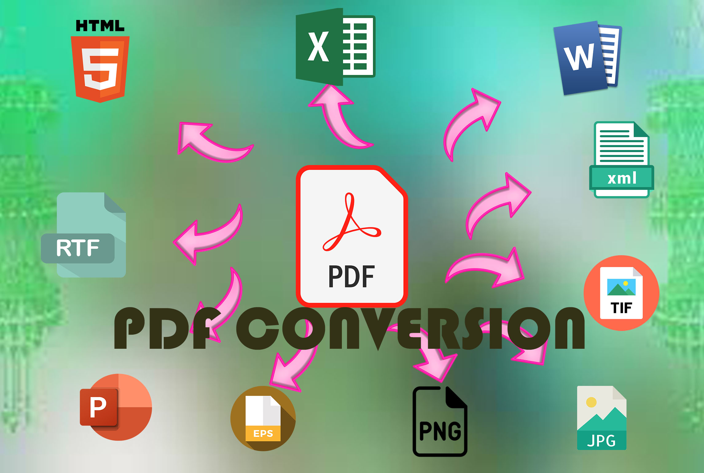 I will do pdf conversion to word excel or PowerPoint