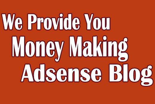 Start making money by Google Adsense