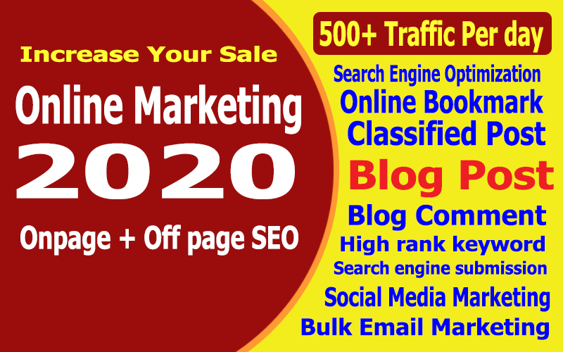 1 month online marketing for your website to Increase sales