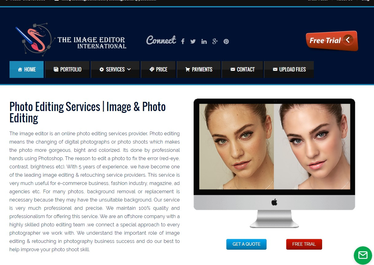 Complete website for your business portfolio in PHP