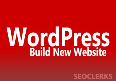 I will build new WordPress Website