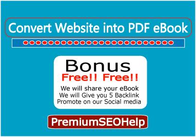 Convert your website in a PDF eBook