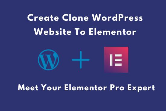 I will create modern responsive WordPress website using elementor pro