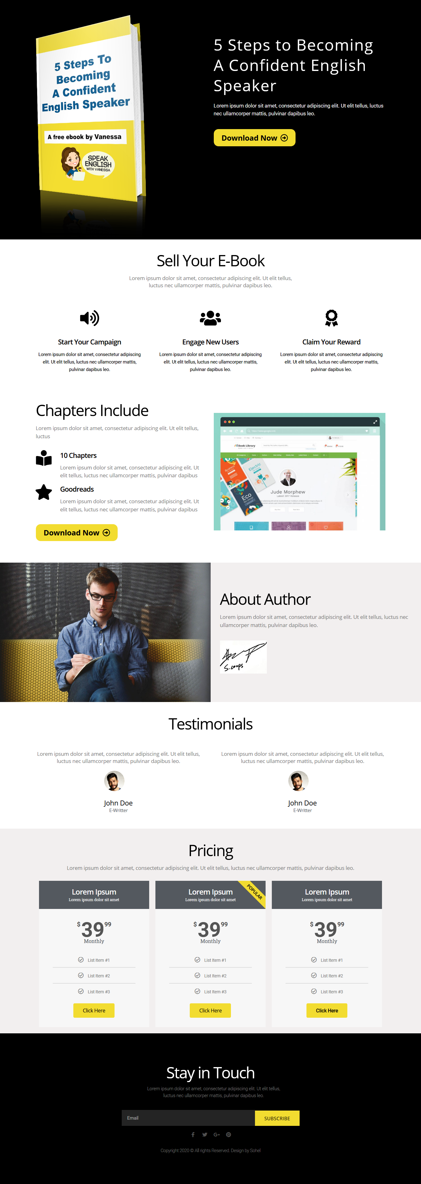 I will create awesome WordPress landing page