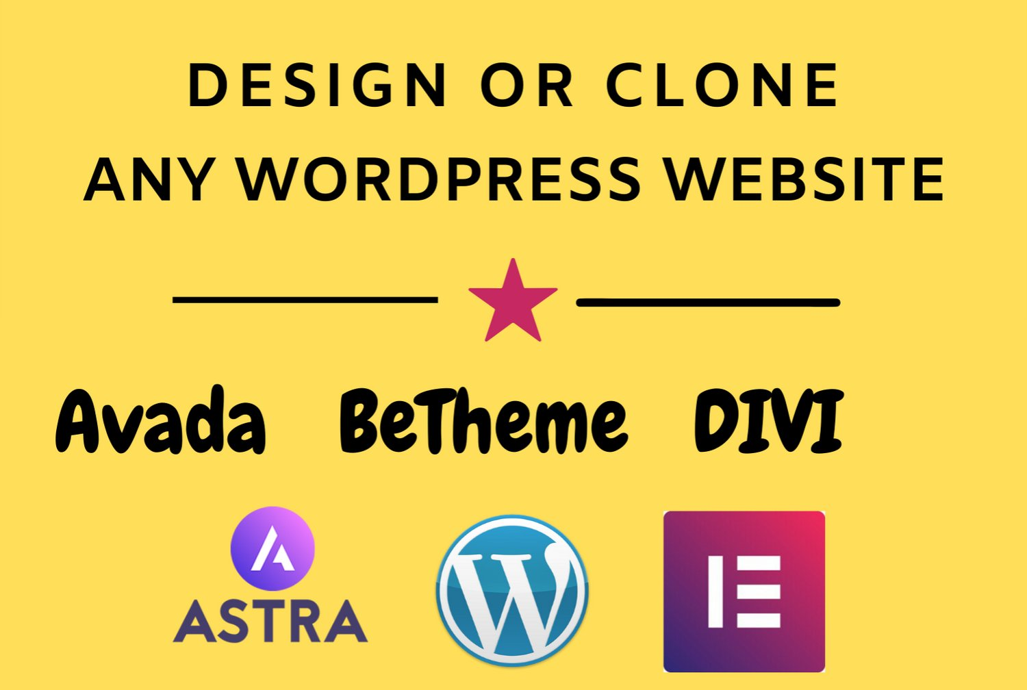 I will design or clone any WordPress website for your business
