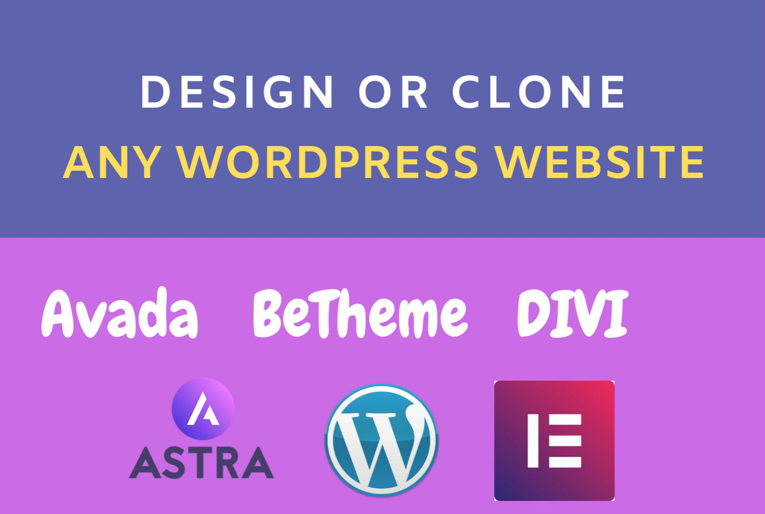 I will customize your betheme,  avada,  divi,  woodmart,  astra pro theme