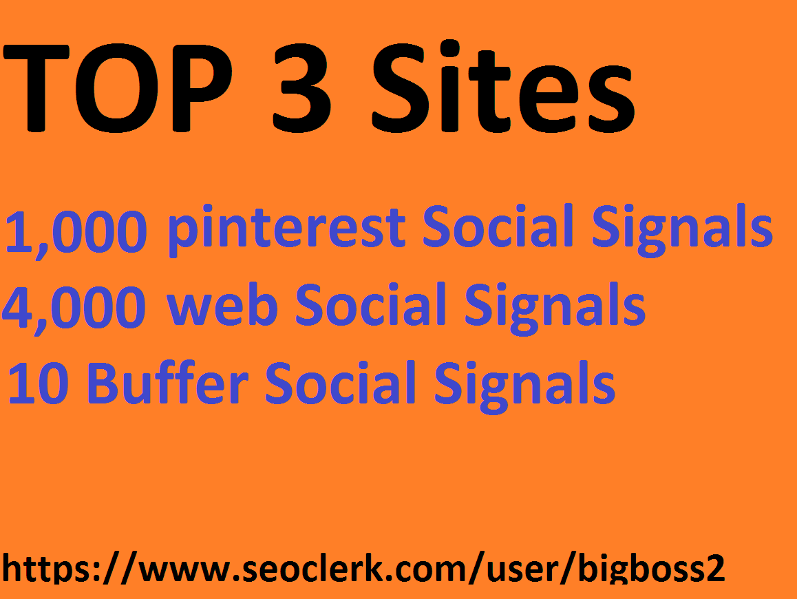 1k pinterest 4k web 10 Buffer Super SEO Social Signals share Bookmarks Backlinks Powerful Ranking