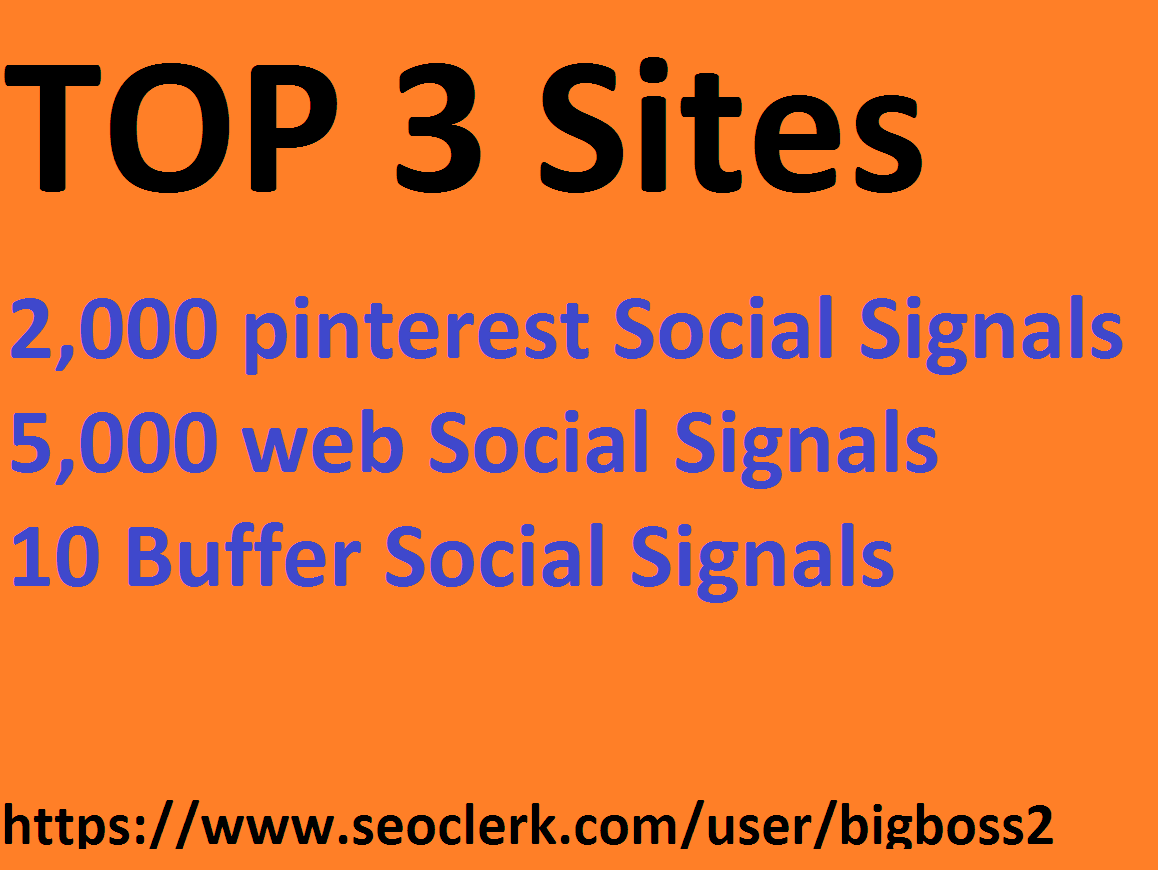2k pinterest 5k web 10 Buffer Super SEO Social Signals share Bookmarks Backlinks Powerful Ranking