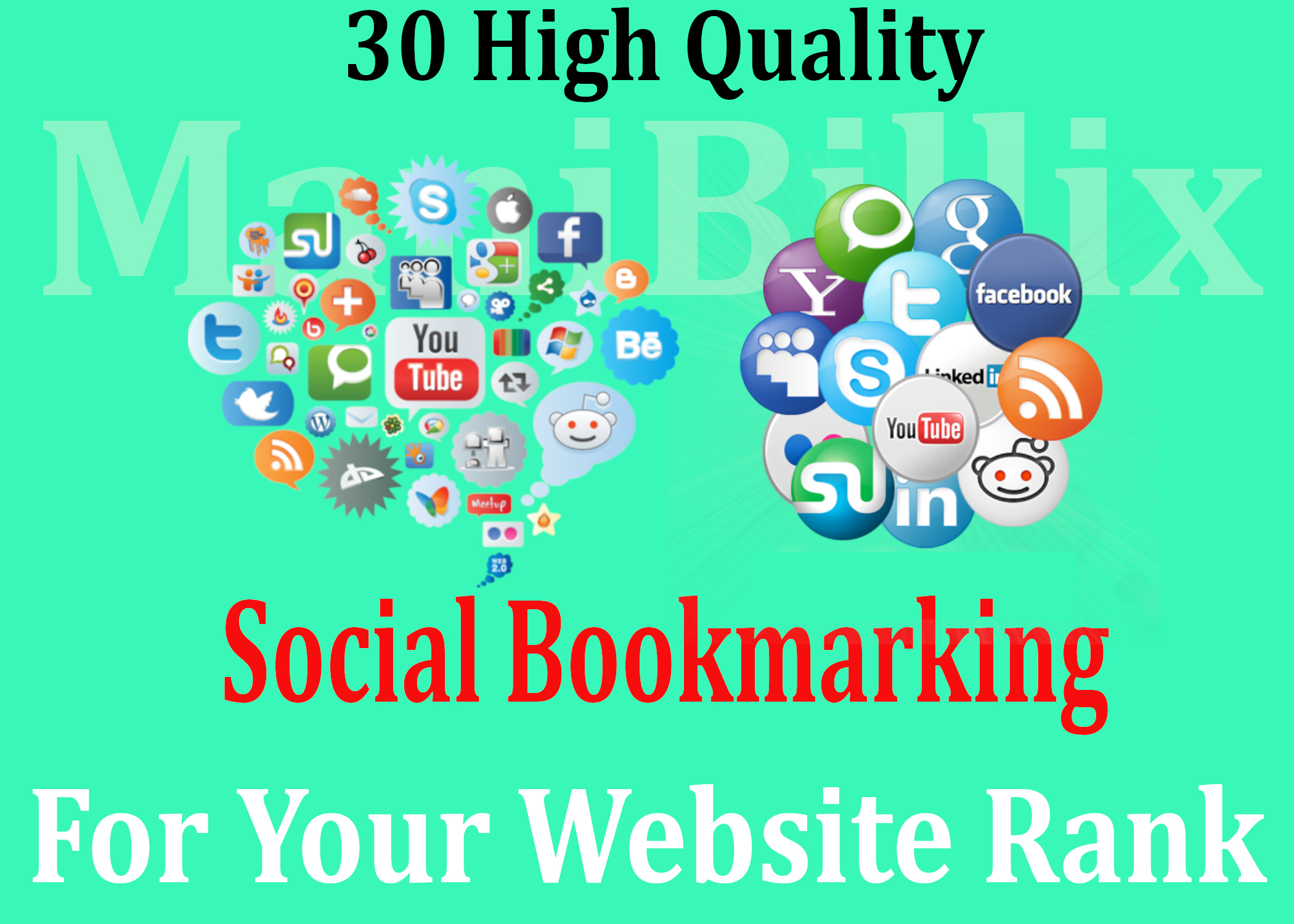 I will Create 30 HQ Social Bookmarking Backlinks For Your Website Manually
