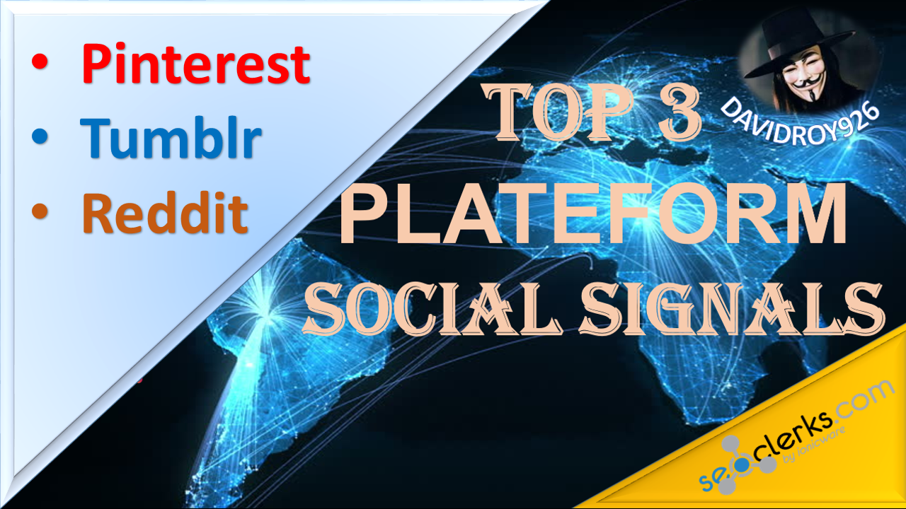 Get 7000 Pinterest+500 Tumblr+15 Reddit Social Signals