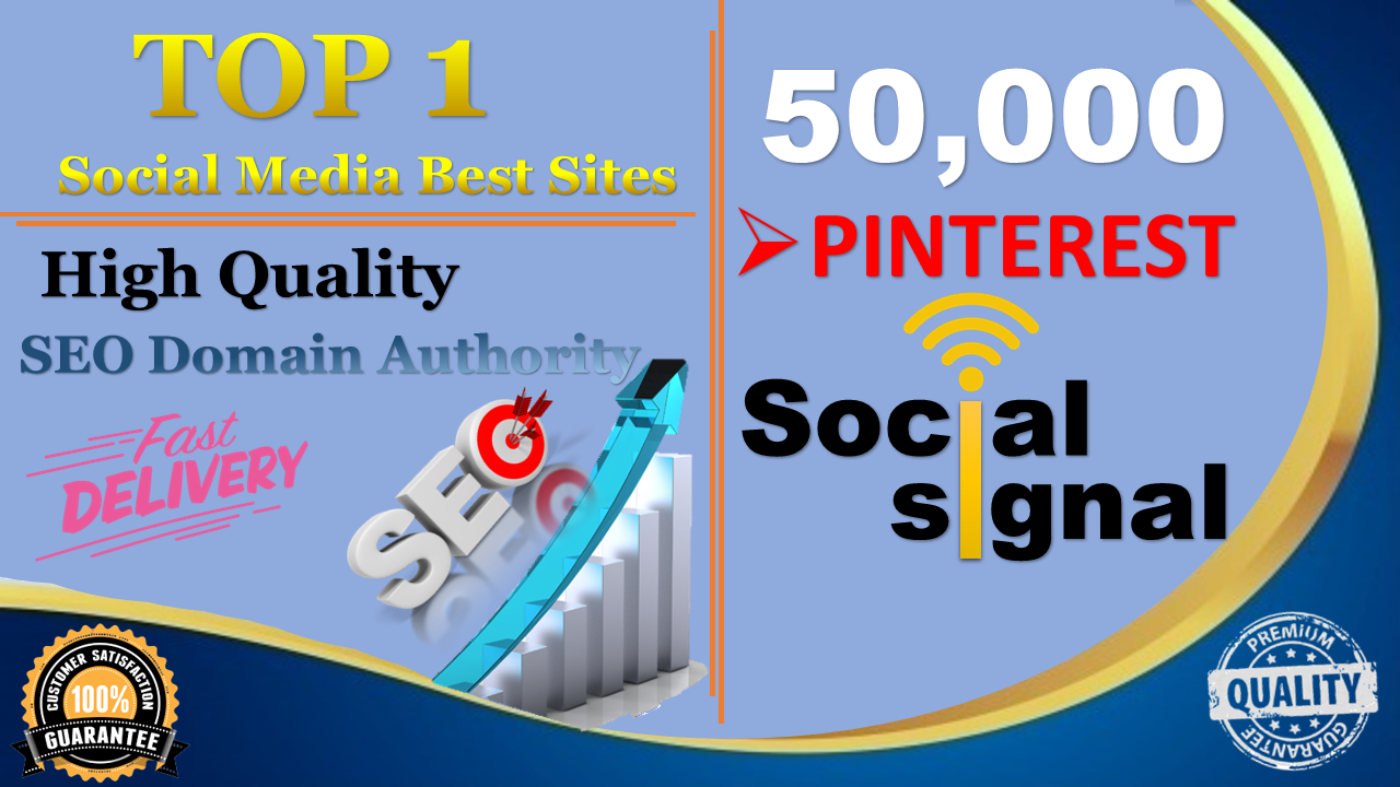 Special Offer,  50,000+ Pinterest Share Social Signals Important For SEO Ranking
