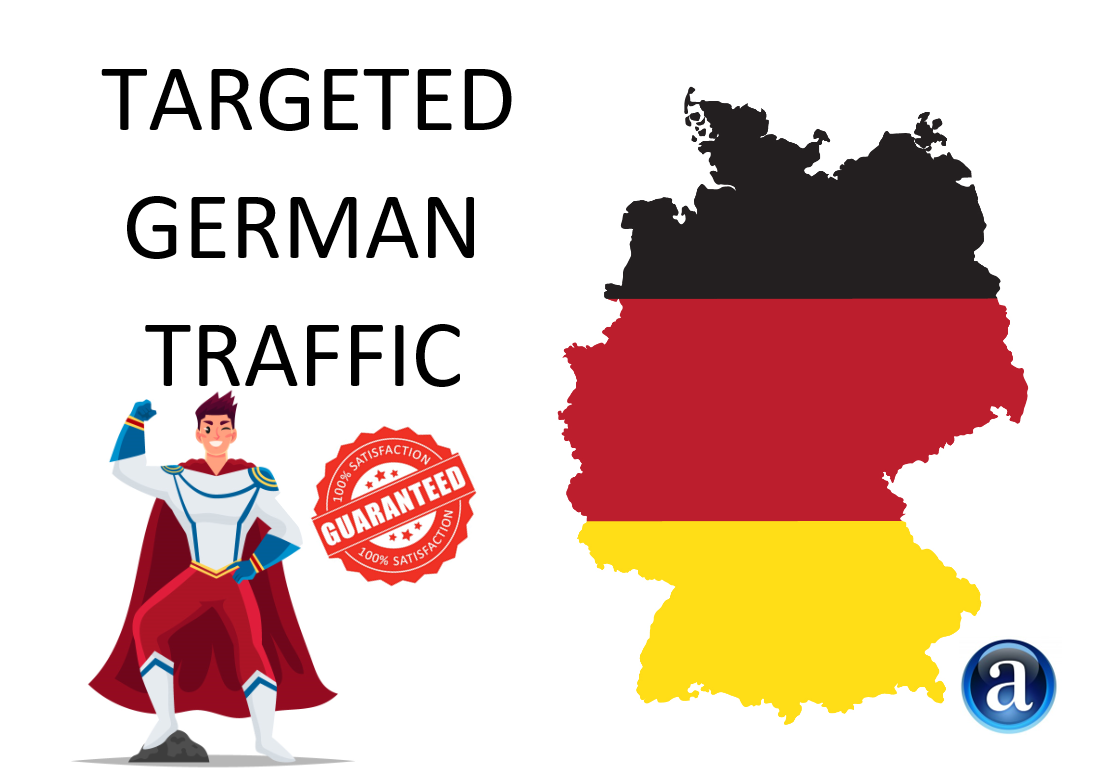targeted organic web traffic from germany