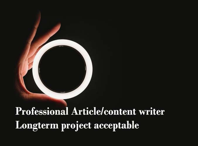 Professional 5 article writing 5000 word