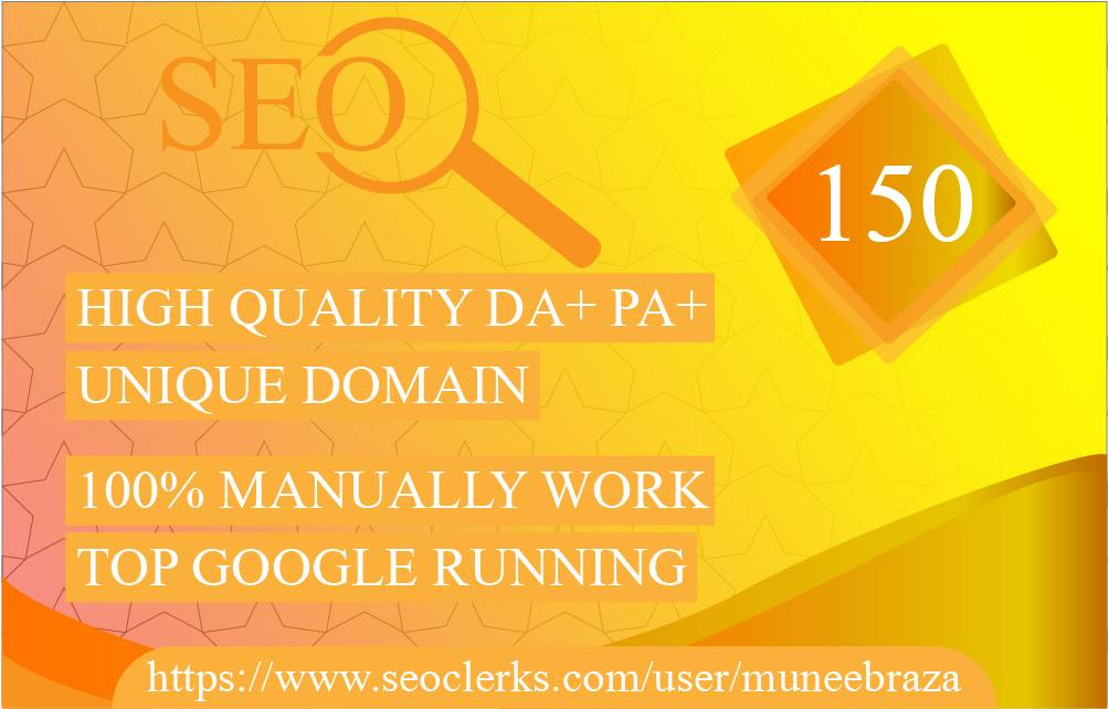 provide 150 Manual Blog Comments Backlinks High Da,Pa, only for $4