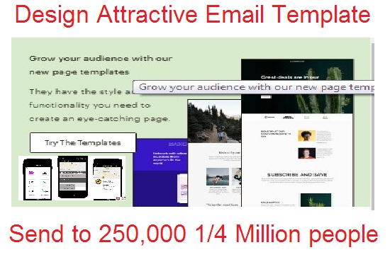 will design email template and send to 250k person great campaign for your business