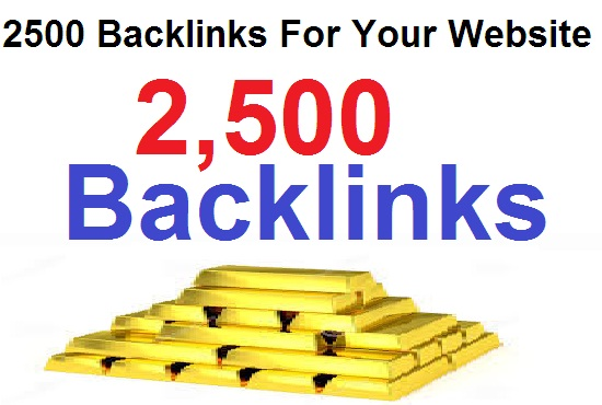 2500 Permanent Backlinks For your website