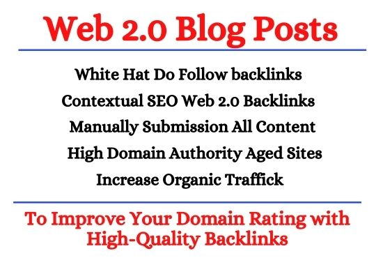 White Hat Do Follow Web 2.0 Contextual SEO Backlinks for Google Top Ranking