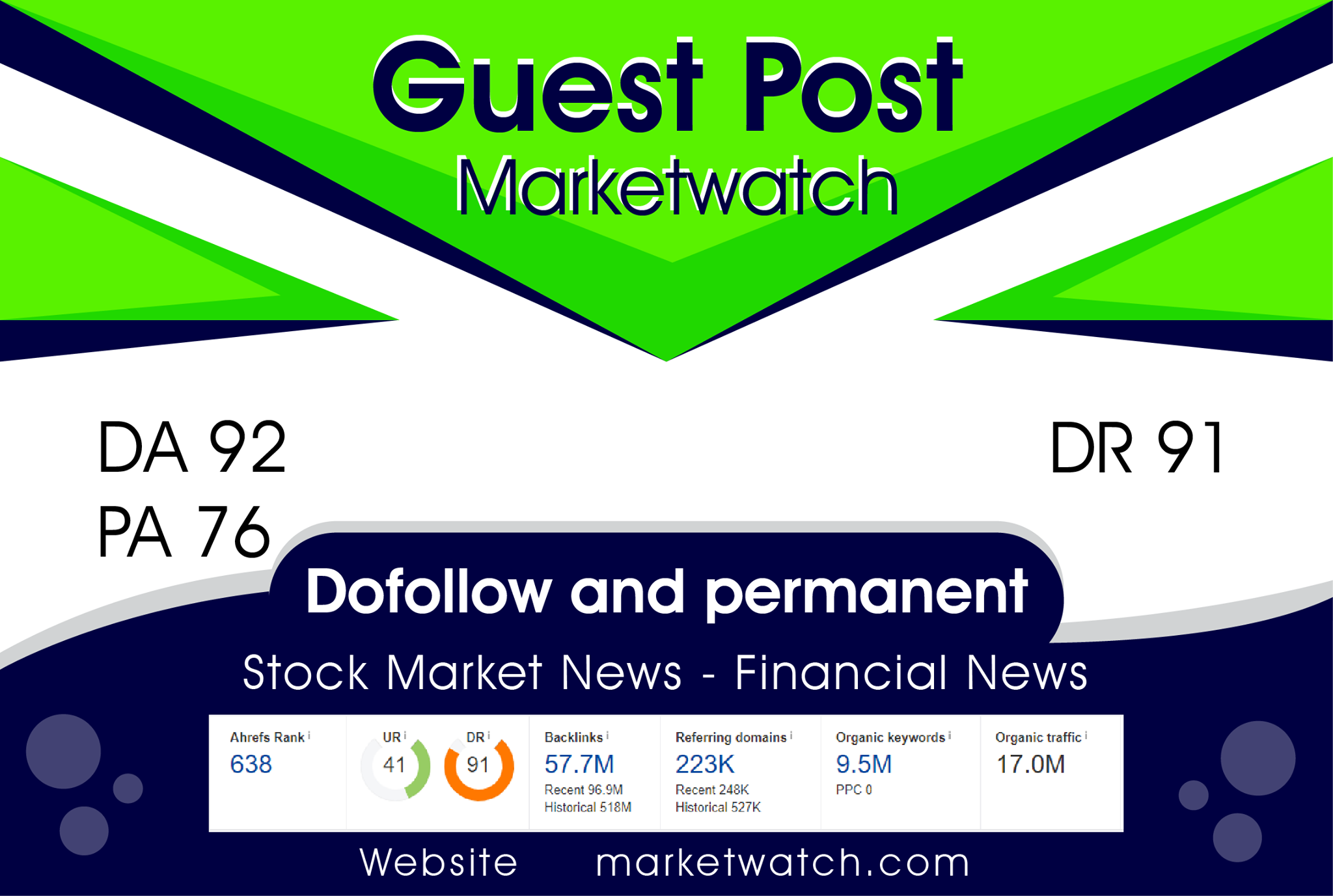 Publish Your Article on marketwatch da 92 with do-follow link