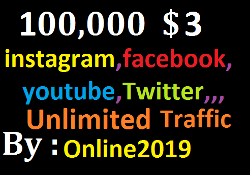 Add 100,000 Worldwide Website Facebook, lnstagram, YouTube, Twitter, Unlimited Real Traffic Marketing
