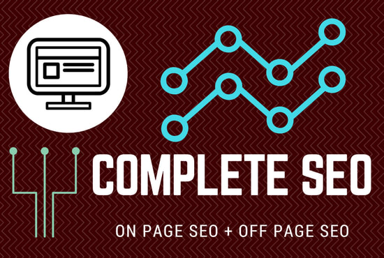 I will do complete seo of your site for 1st page ranking on google . Update 2021