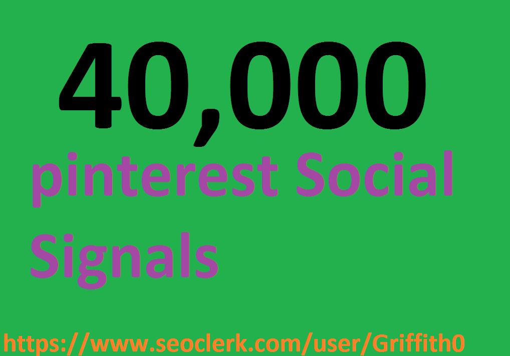 Limited Offer 40,000 PR9 PiNTEREST Social Signals