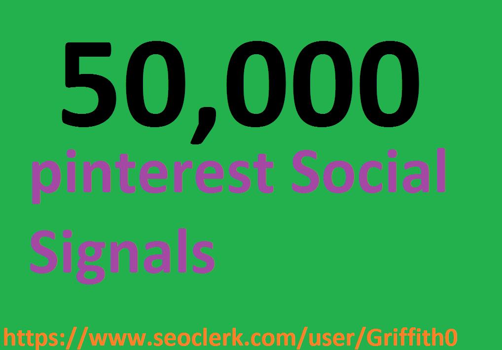 Limited Offer 50,000 PR9 PiNTEREST Social Signals