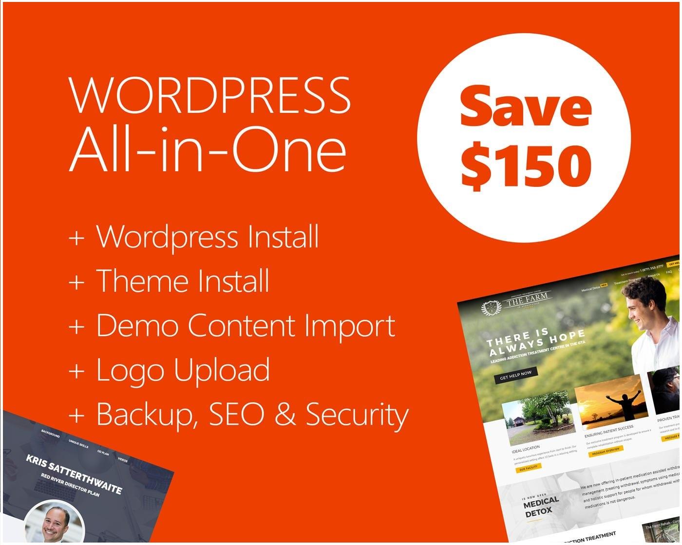 WordPress Theme Installation & Demo Setup + Logo & Plugin Setup