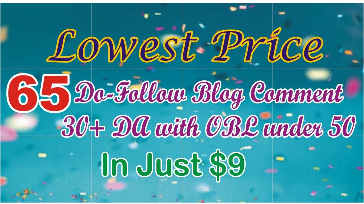 I Will Provide 65 High Da Pa Do-follow Blog Comments Backlinks