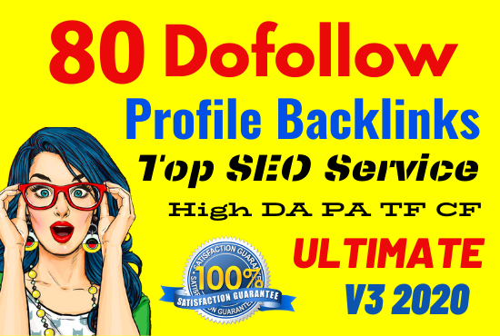 Manually Create 80 Profile Backlinks On High PR, Da Sites And SEO Audit