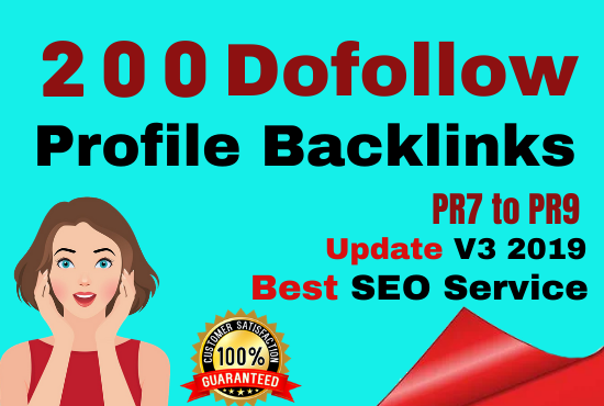 Manually Create 200 pr9 Dofollow Profile Backlinks On High PR,  Da Sites And SEO Audit
