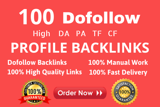 Create Manually 100 pr9 da 90 Dofollow Profile Backlinks