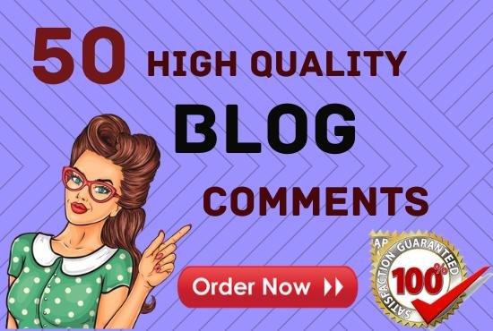 Do 50 Unique Domain Niche Related Blog Comments High DA PA