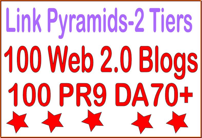 Superstar SEO Premium-100 PR9 - DA 70+ & 100 Web 2.0 blogs Tiered Backlinks For SEO