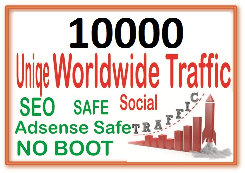 Send 10000+ Human Traffic by Google Youtube Twitter Other social site