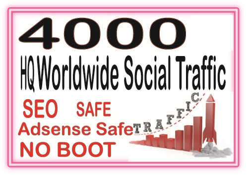 Do 4000 Targeted Human Traffic from search engine and social media